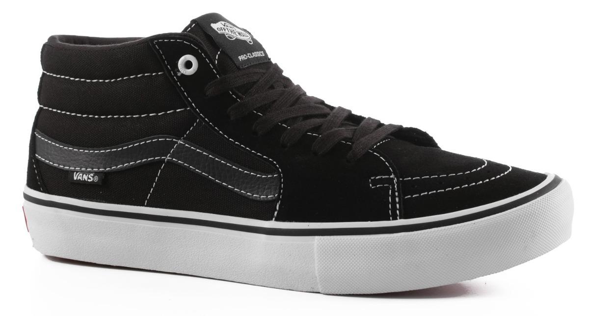 12aa9ed80 zapatillas - vans sk8 mid pro black black white. Cargando zoom.