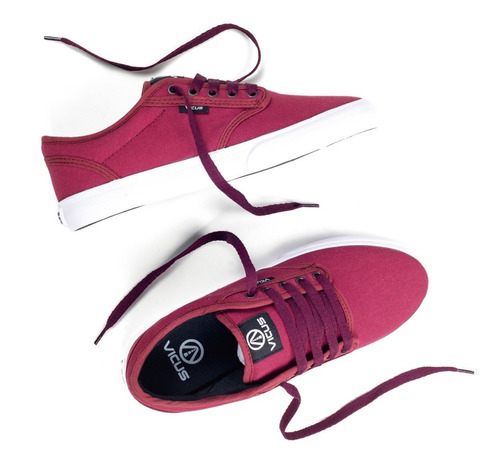 zapatillas vicus folk lona bordo