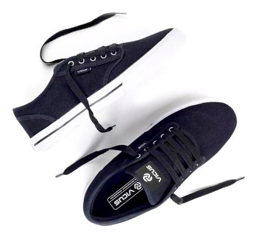 zapatillas vicus folk lona negro