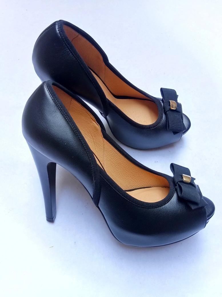 comprar lo mejor gran venta de liquidación zapatos casuales Zapatillas Westies Tacon Peep Toe Negro 26 Mx Nine West