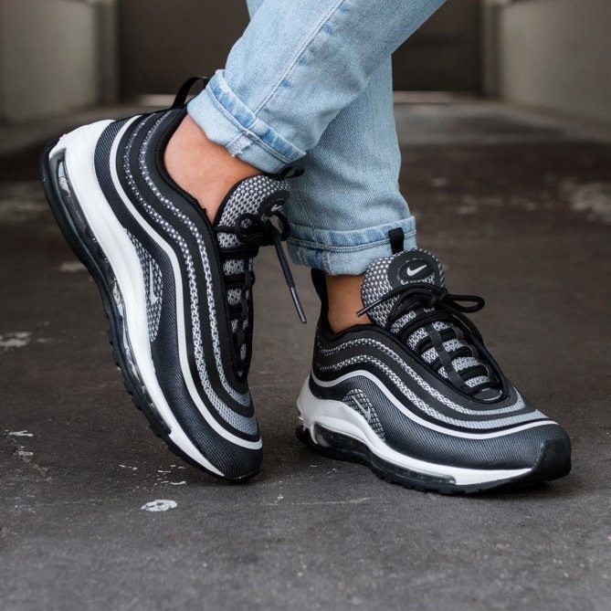factory price 778e3 392d9 ... norway zapatillas wmns nike air max 97 ultra black reflective 994e0  64b10