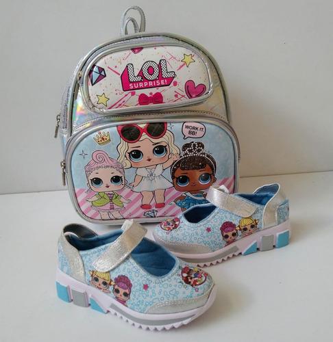 zapatillas y bolsos para niñas