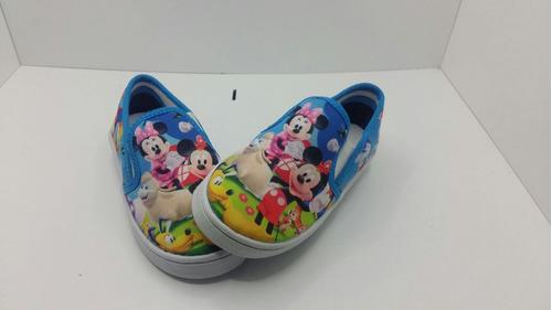 zapatillas y panchas personajes por mayor infantintiles