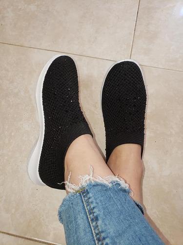 zapatillas zapas elastizadas importadas con lluvia de strass