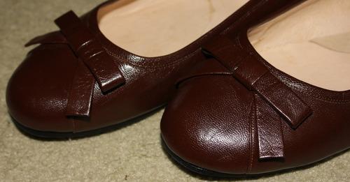 zapatillas zapatos de damas sofly shoes marrones como nuevas