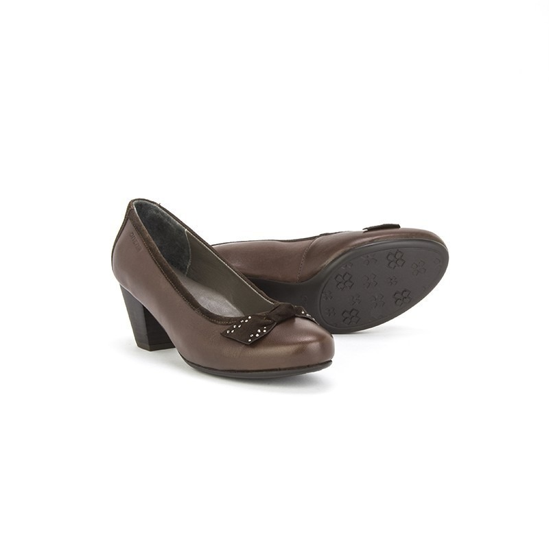 5e583649 zapatillas zapatos onena 2625 cafe o negro damas piel moños. Cargando zoom.