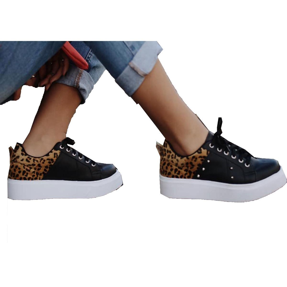 Dama Tenis Zapatillas Zapatos Para Print Animal v8mONwn0y