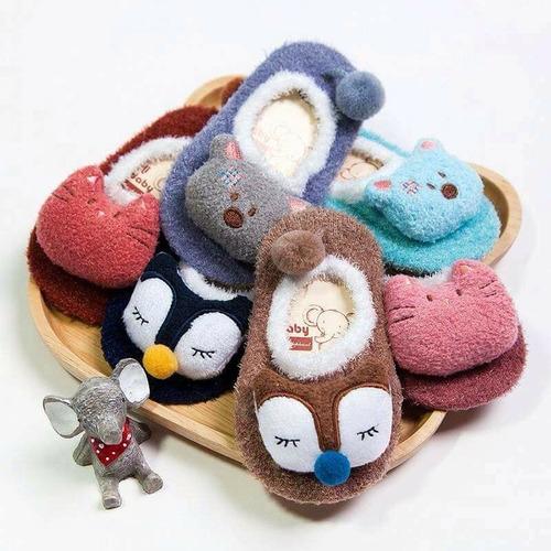 zapatitos con muñeca,tipo pantufla,antiderrapante,bebe,niño