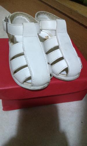 zapatitos cuero blanco bebe