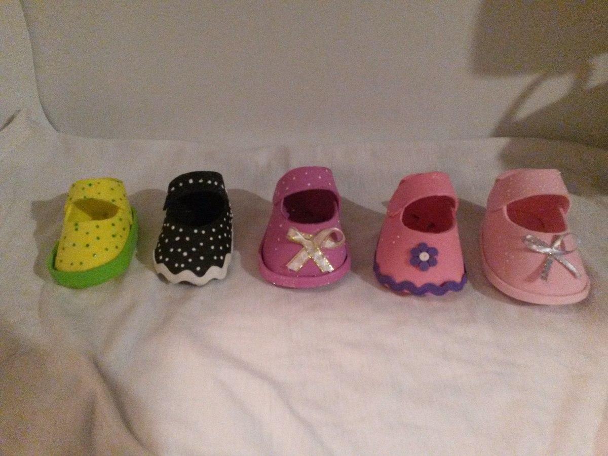 Zapatitos De Recuerdo Para Baby Shower Nia Foami Bs 001 En