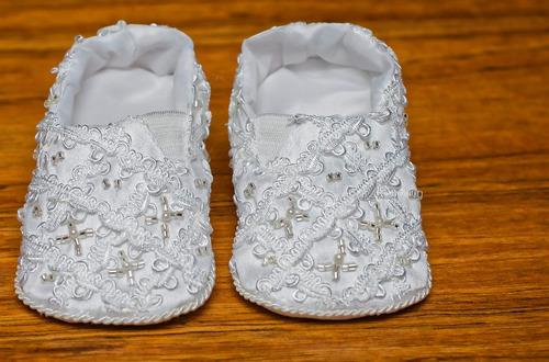 zapatitos de tela para bebe  hechos a mano - burbvus b007