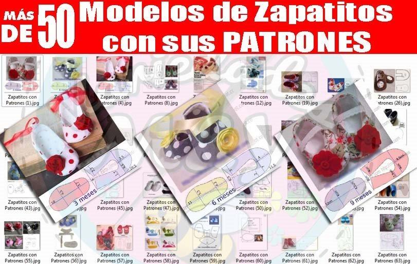 Zapatitos Para Bebé Patrones Revistas Zapatillas Tela Y Más - S/ 1 ...