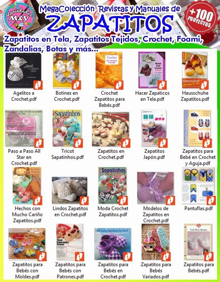 Zapatitos Para Bebé Patrones Revistas Zapatillas Tela Y Más - S/ 3 ...