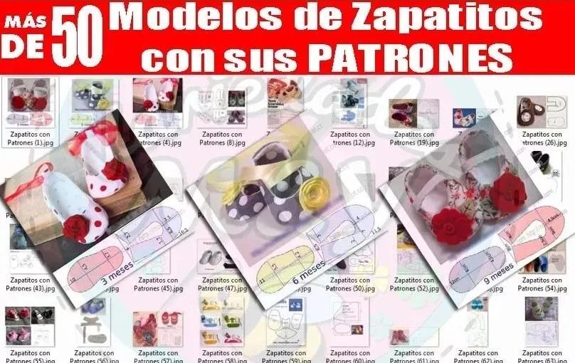 Zapatitos Para Bebé Patrones Revistas Zapatillas Tela Y Más ...