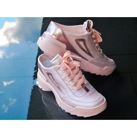 Zapato / Ten Tipo Sueco Dama Rosa / Blanco
