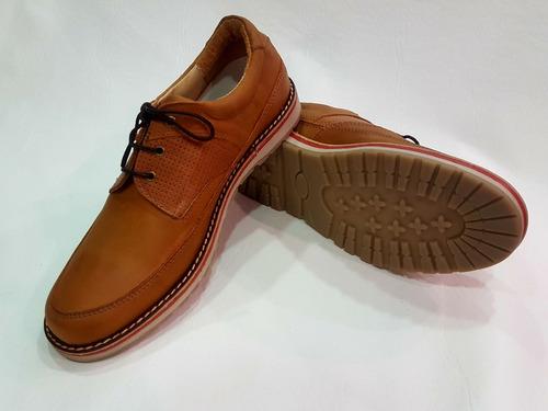 zapato 100% cuero base goma footnotes 1120 marron hot sale