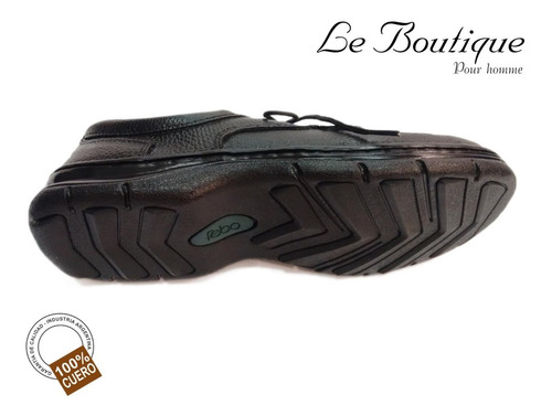 zapato 100% cuero febo negro foot notes 308 hot sale