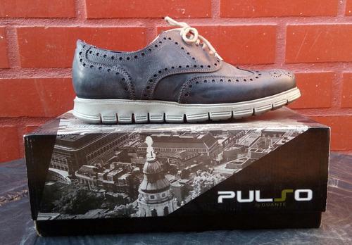 zapato 100% cuero marca guante gris oscuro n°...conversable