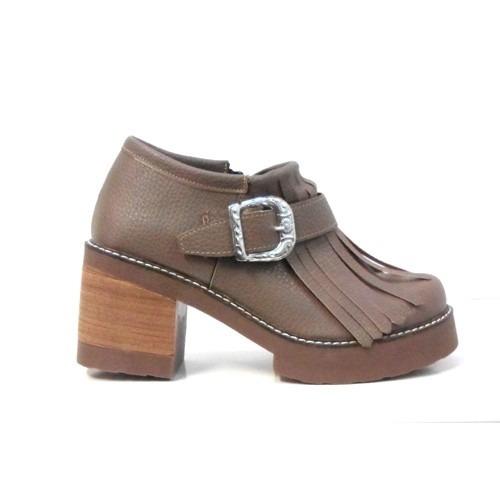7cf97b70 Zapato Abotinado Con Flecos Hebilla Base De Goma 960 Rimini - $ 899 ...