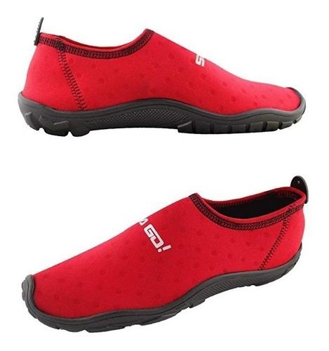 zapato acuatico svago modelo aqua, color rojo