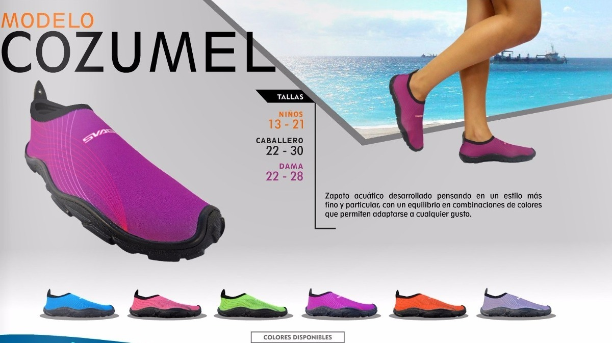 640088a43e Zapato Acuatico Svago Modelo Cozumel Color Azul - $ 188.00 en ...