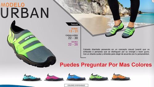 zapato acuatico svago modelo urbano color aqua