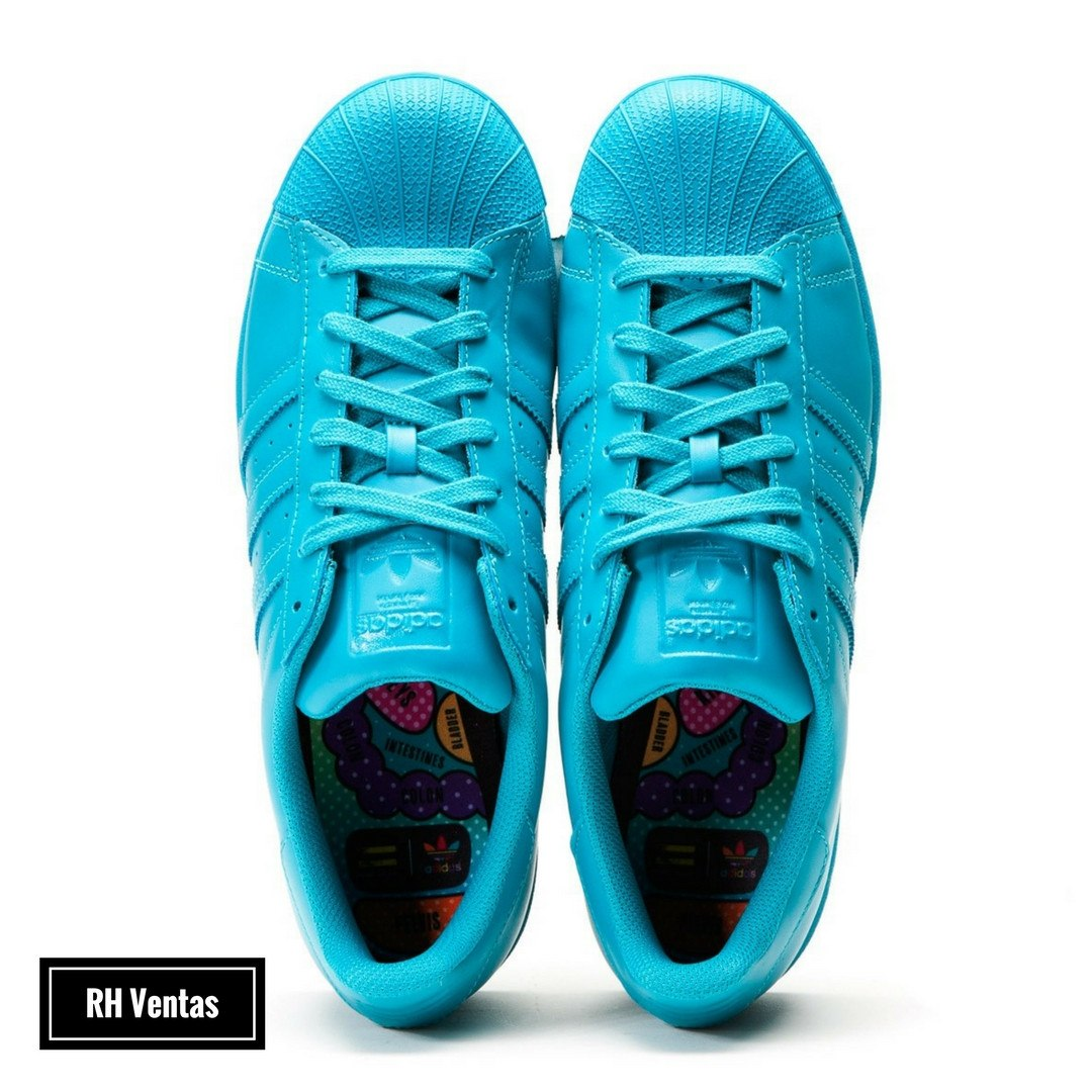 huge discount f769f 6d2f8 ... official zapato adidas superstar supercolor de pharrell williams azul.  cargando zoom. 3a9ad 0bd8a