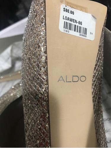 zapato aldo dorado nuevo en caja