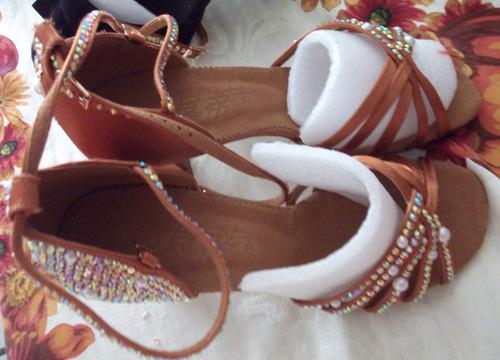 zapato baile profesional,salsa,bachata,22.5cm(5 us), $1500