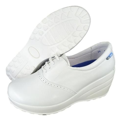 zapato blanco alto confort enfermera chef dr hosue 1983 novi