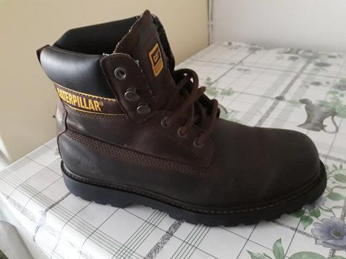 zapato bota cat original punta metal