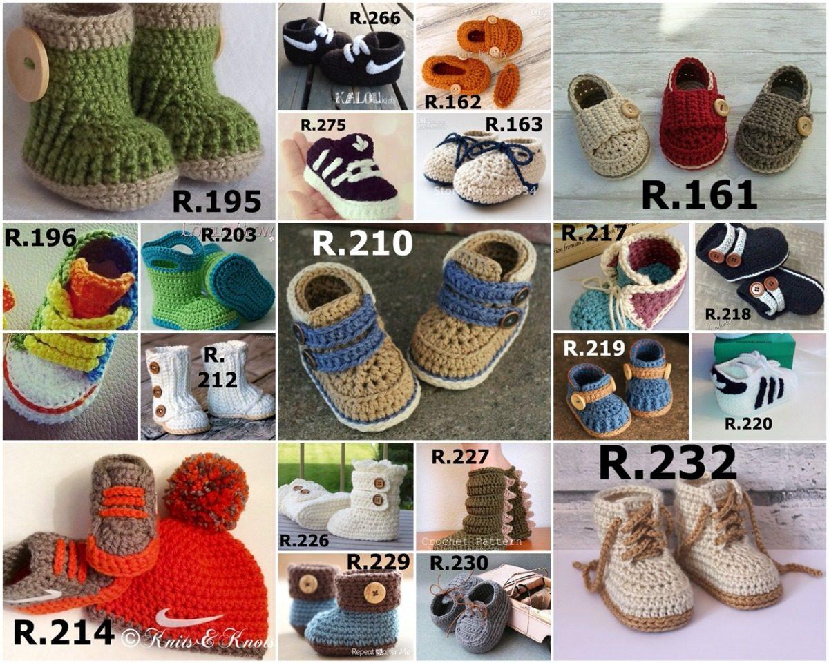 Canesu Para Bebe A Crochet - Botas Zapatos Crochet Para Bebes De ...