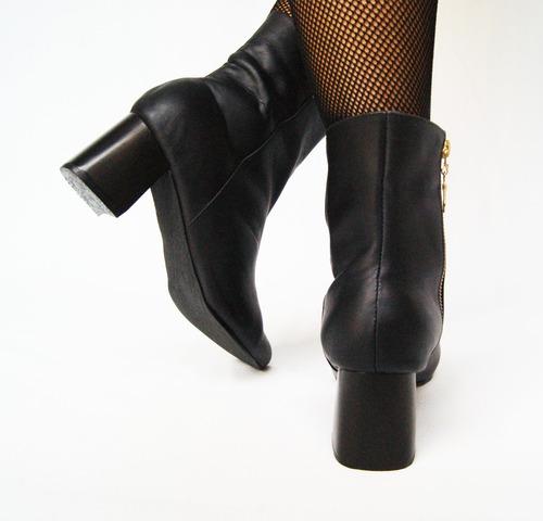 zapato botas caña alta mujer cuero miel le sac & co