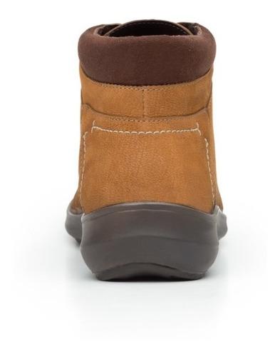 zapato botin casual dama 25911 flexi avellana