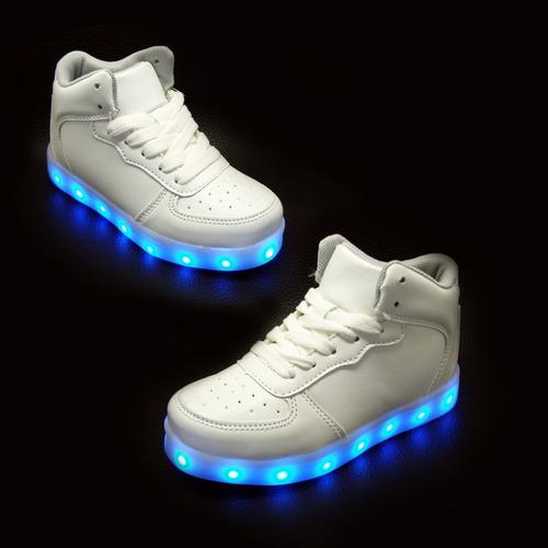 zapato botín deportivo luces led  + usb 27 al 35½