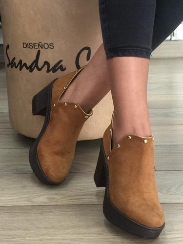 zapato botin mujer