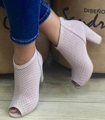 zapato botin para mujer despuntado sandra cano shoes