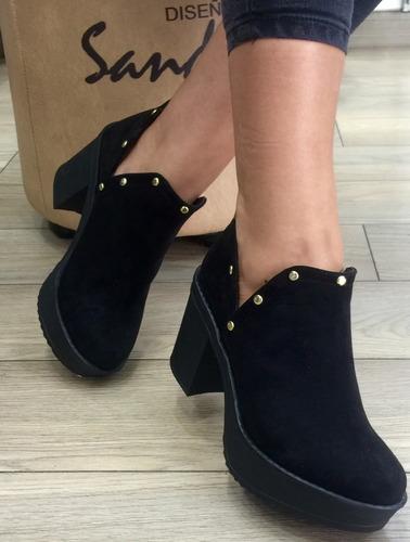 zapato botin taches para mujer sandra cano shoes