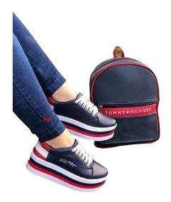 en venta cb67f 2cf3a Zapato Botines Calzado Dama Plataforma Doble Piso Colombiano