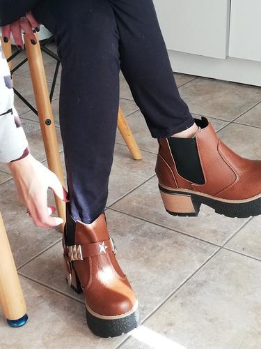 zapato botita plataforma calzado borcegos borcegos super comodos y livianos mujer fiorcalzados