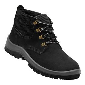 Zapato Calzado De Trabajo Cuero Nobuck Con Trenzas