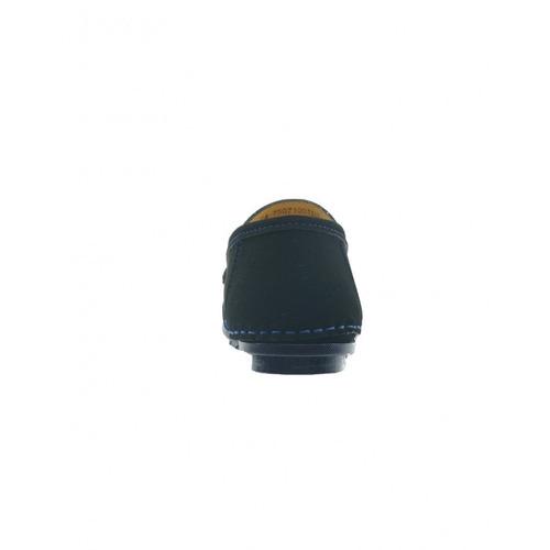 zapato casual economico nobuck negro rey marca blackmont