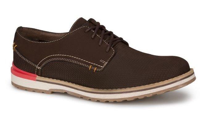 2404288 Hombre Ferrato Café Casual Oxford Zapato Oscuro Piel wX5q7OW6