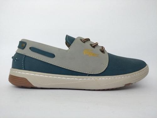 zapato casual lacoster timberlan de caballero