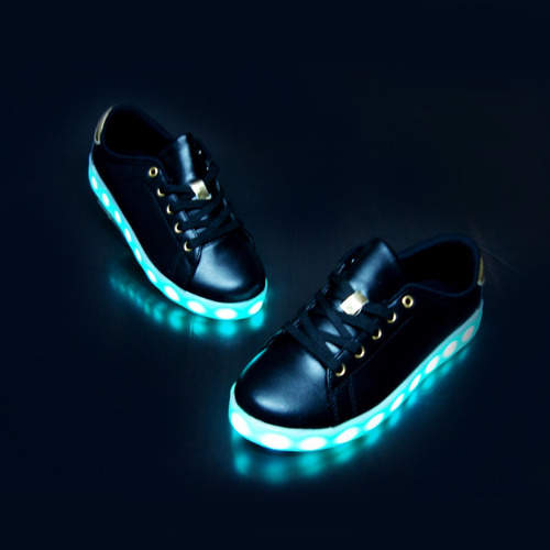 zapato casual luces led  + usb 27 al 35½