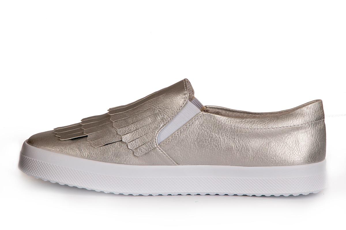 Van Plateado Casual B Zapato Urbano Mujer Manuela Flecos 543RjLA