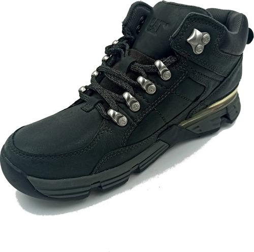zapato caterpillar syntax mid blackout color negro hombre