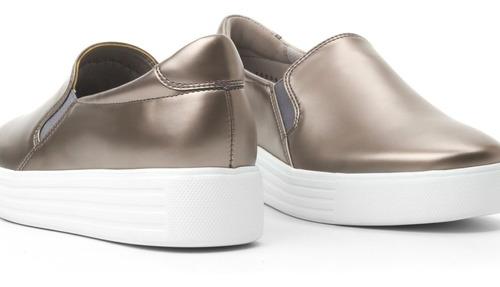 zapato cerrado casual dama 36304 flexi plata