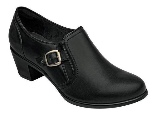 zapato cerrado flexi mujer negro piel 15406