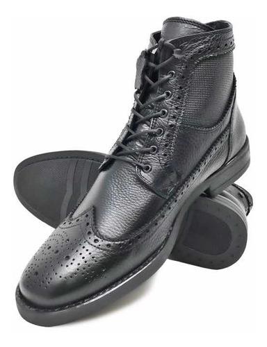 zapato chelsea bostoniano de hombre fina piel vacuno